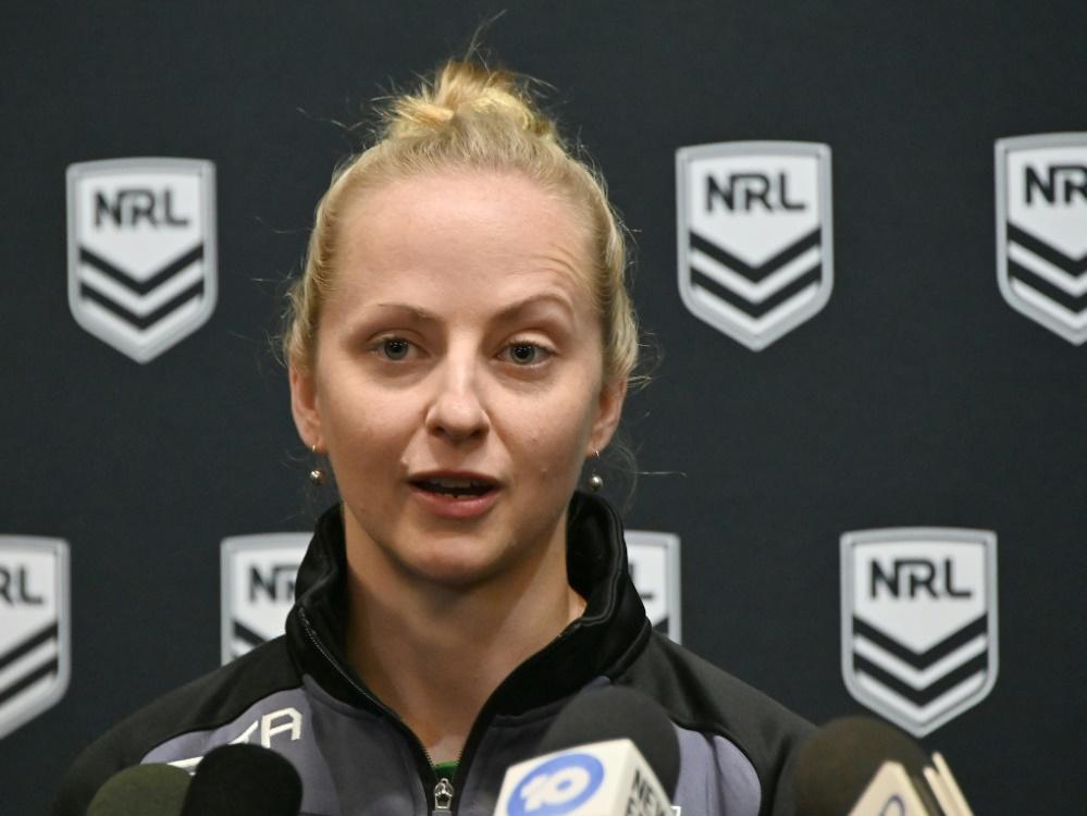 Belinda Sharpe wird als erste Frau ein NRL-Spiel leiten