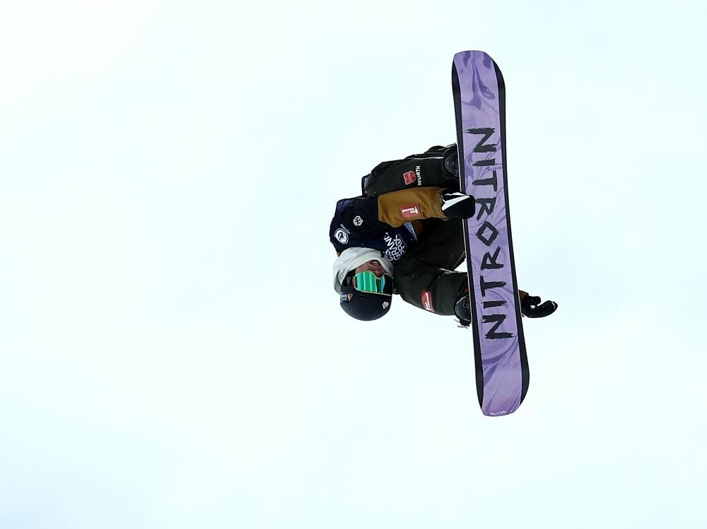Pause für den Snowboarder Andre Höflich