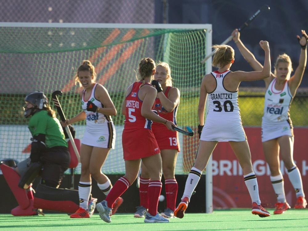 Hanna Granitzki jubelt über ihren Treffer gegen die USA
