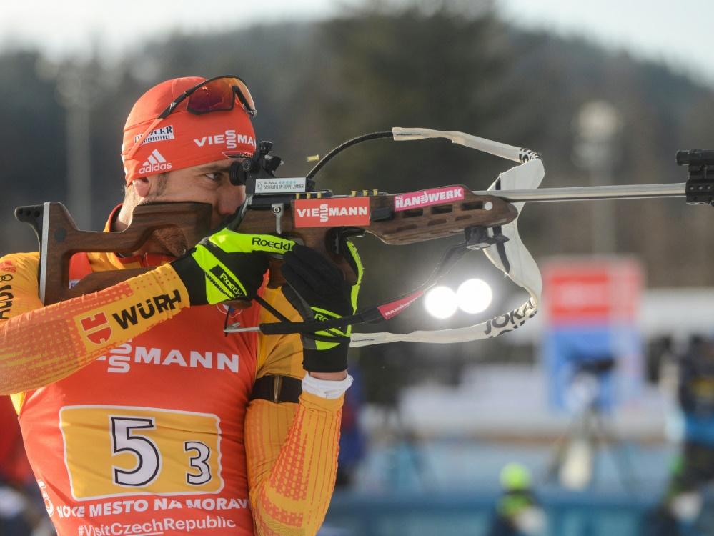 Arnd Peiffer sichert sich im Sprint den dritten Rang