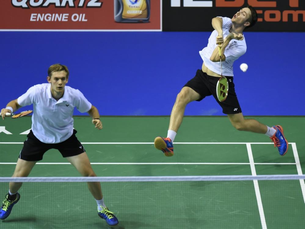 Mark Lamfuss (r.) und Marvin Seidel gewannen ihr Doppel