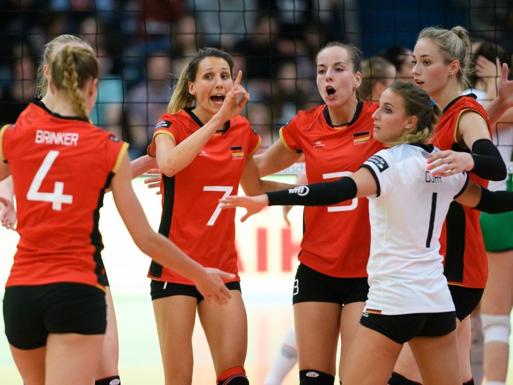 Deutschlands Volleyball-Frauen siegen gegen Ungarn