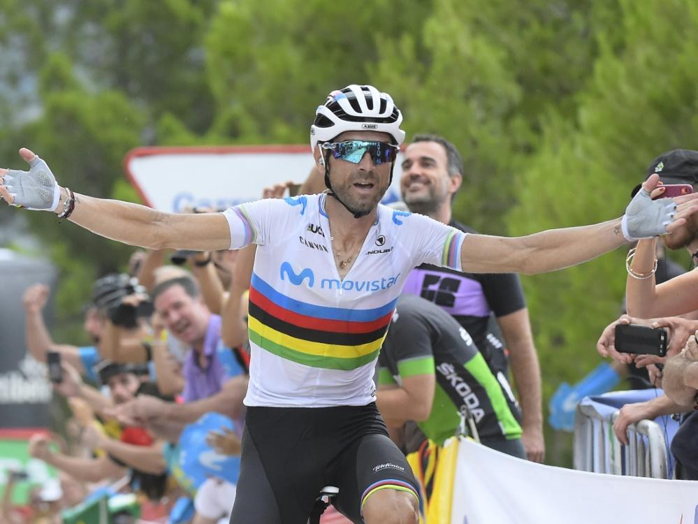 Alejandro Valverde gewinnt die siebte Etappe der Vuelta