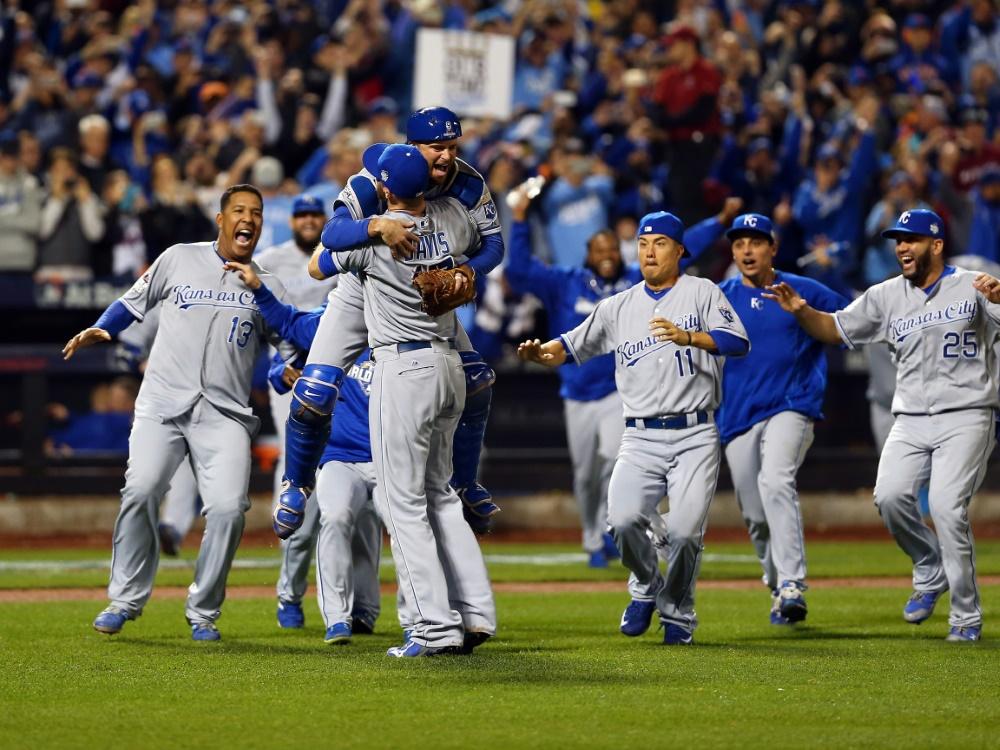 Kansas City Royals auf dem Baseball-Thron