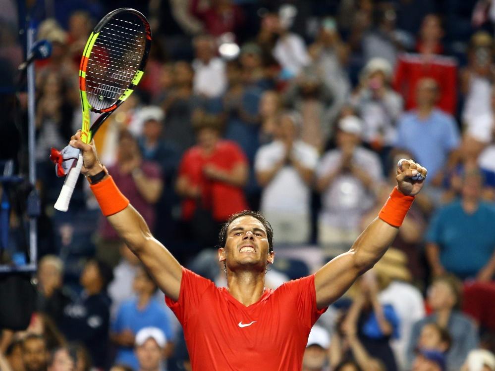 Rafael Nadal steht beim Masters in Kanada im Finale
