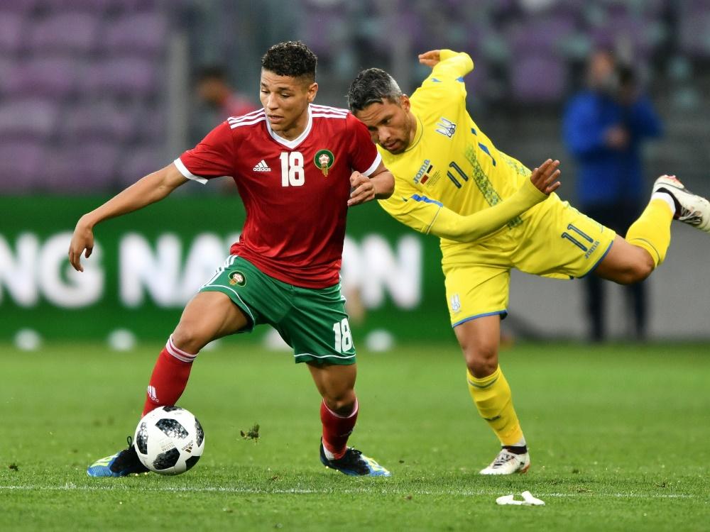 Keine Tore gab es im Spiel zwischen der Ukraine und Marokko