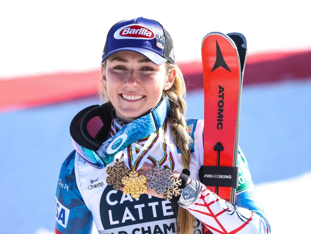 Skirennläuferin Mikaela Shiffrin in Führung