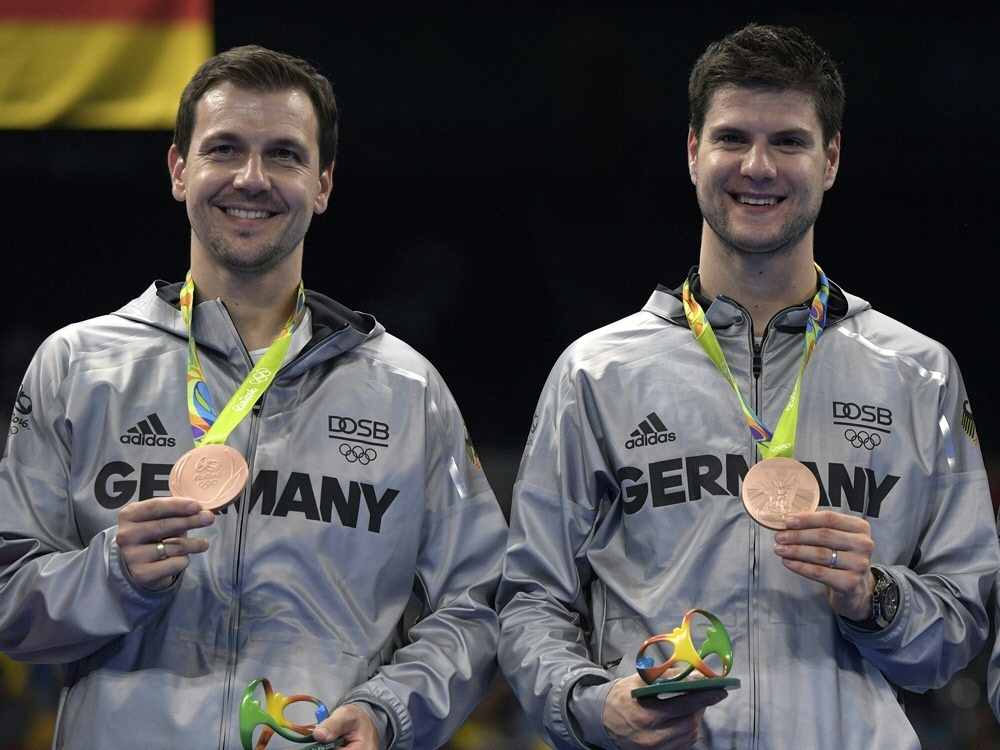 Boll (li.) und Ovtcharov führen das deutsche Aufgebot an