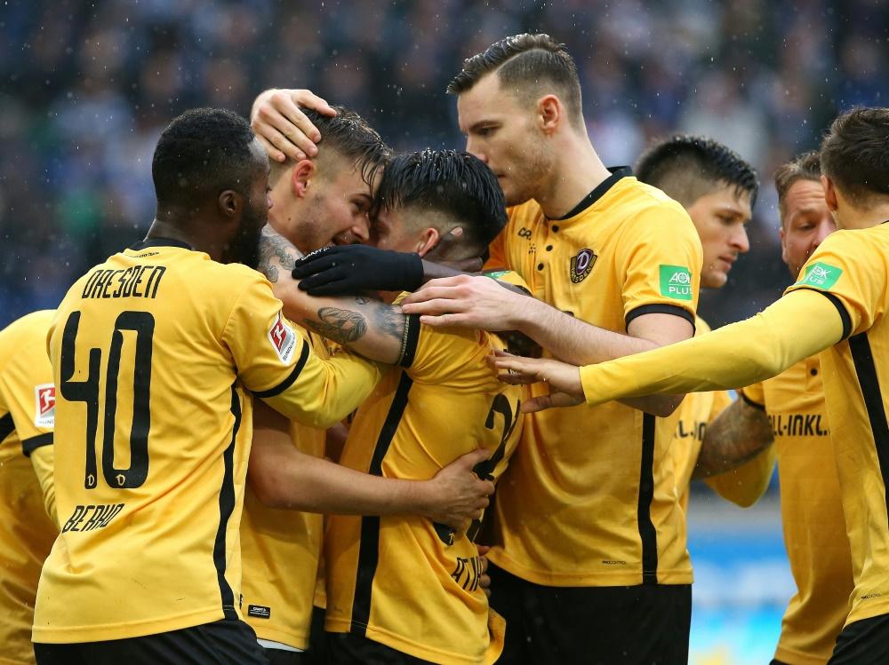 Dynamo Dresden siegt gegen St. Pauli mit 2:1