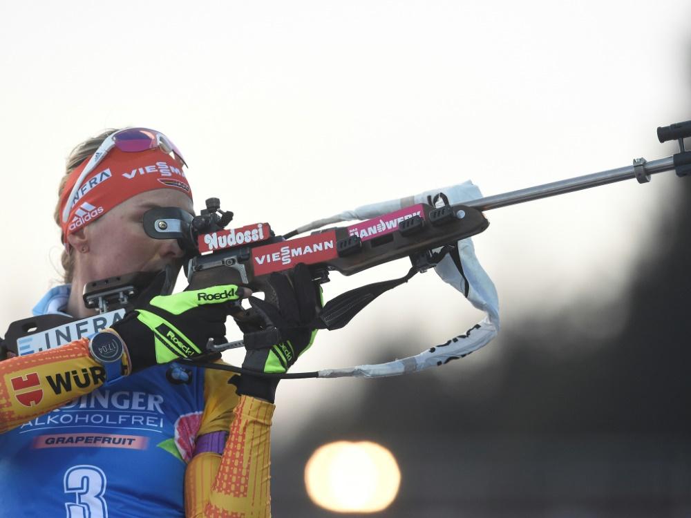 Herrmann landete im Sprint auf Rang drei