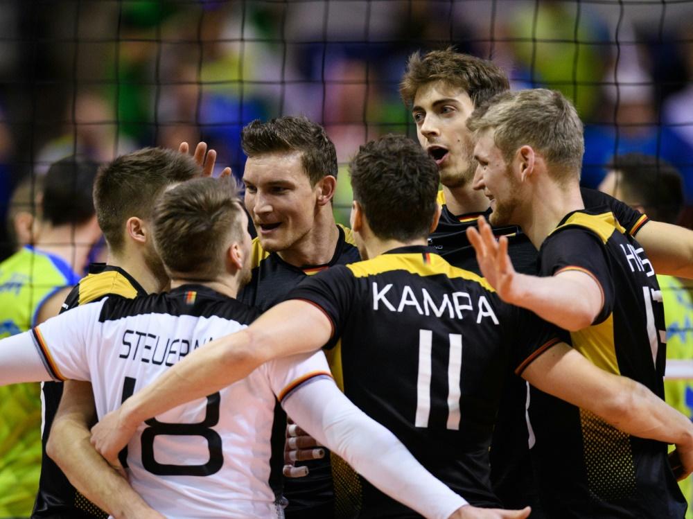 Die deutschen Volleyballer treffen auf Bulgarien