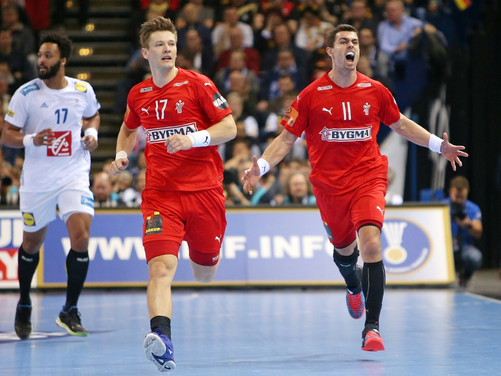 Lasse Svan (l.) und Rasmus Lauge sind angeschlagen