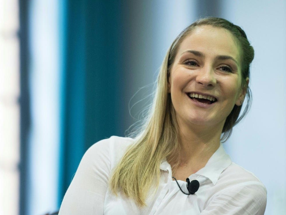 Kristina Vogel besuchte die deutsche Nationalmannschaft