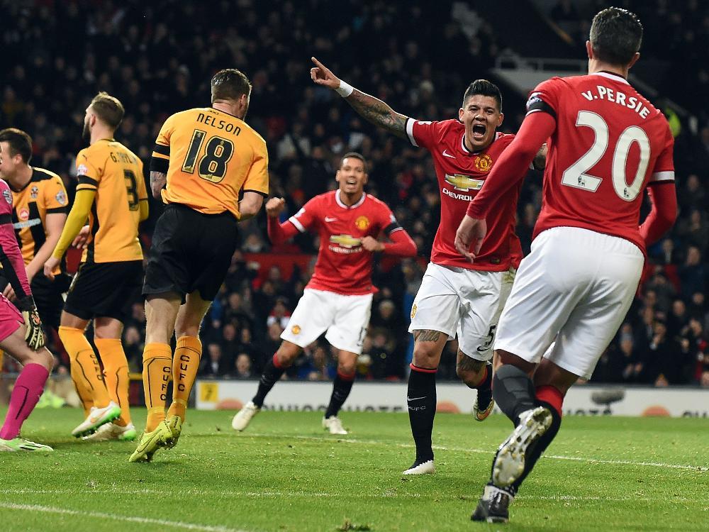 Manchester United jubelt über den Aufstieg im FA-Cup