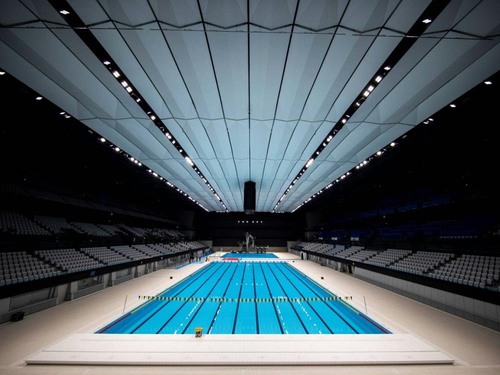 Olympische Schwimm-Arena eröffnet