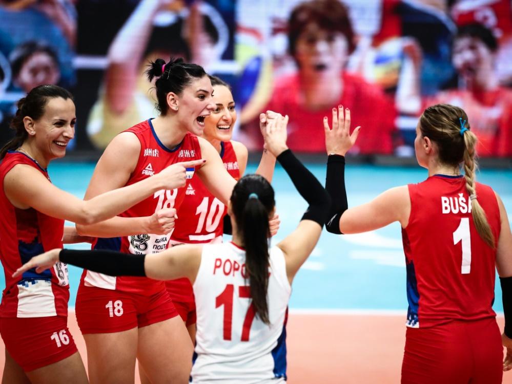 Die serbischen Volleyballerinnen holen den WM-Titel