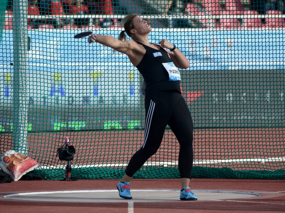 Kristin Pudenz gewann beim Diskuswerfen in Berlin