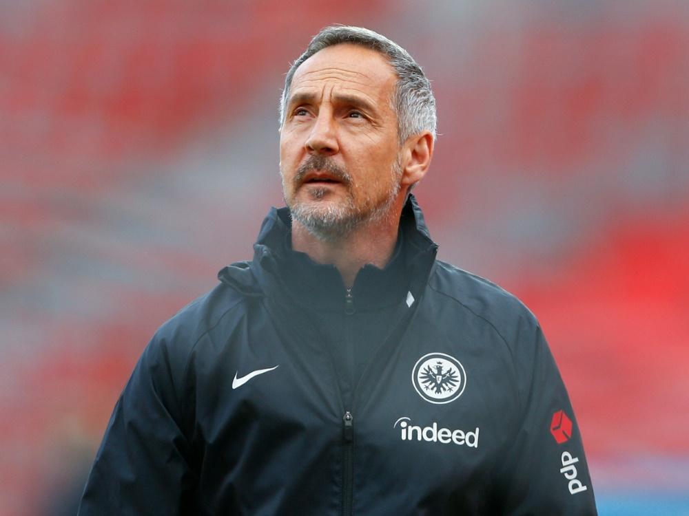 Adi Hütter sorgte mit seinen Aussagen für Diskussionen bei Eintracht Frankfurt