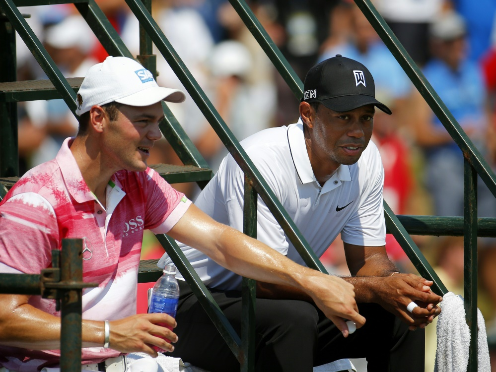 Nur noch Zuschauer: Tiger Woods und Martin Kaymer