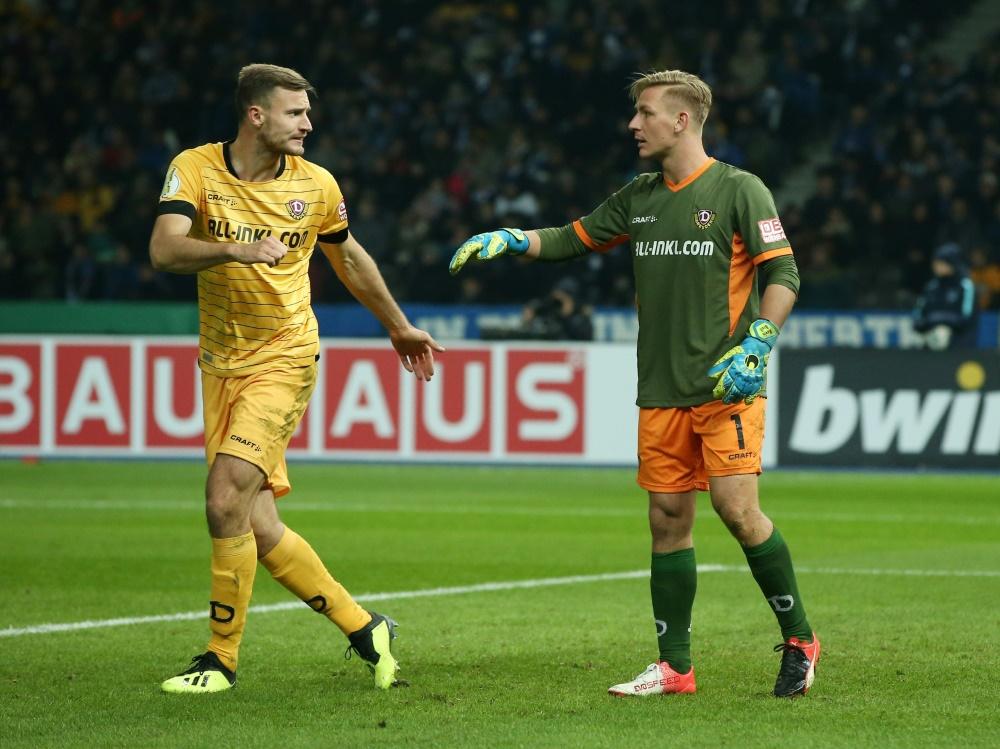 Florian Ballas (l.) spielt seit 2016 für Dynamo Dresden