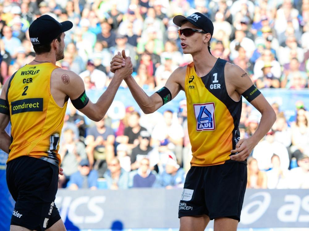 Im Viertelfinale: Clemens Wickler und Julius Thole