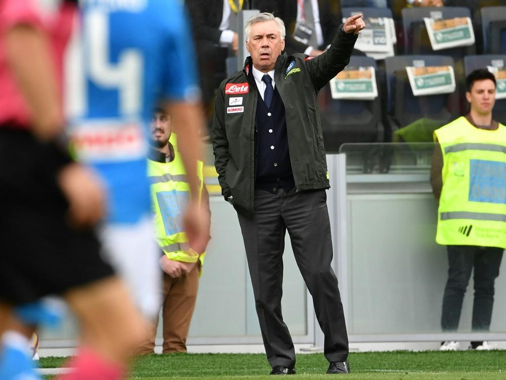 Siegte mit Neapel bei Frosinone Calcio: Carlo Ancelotti