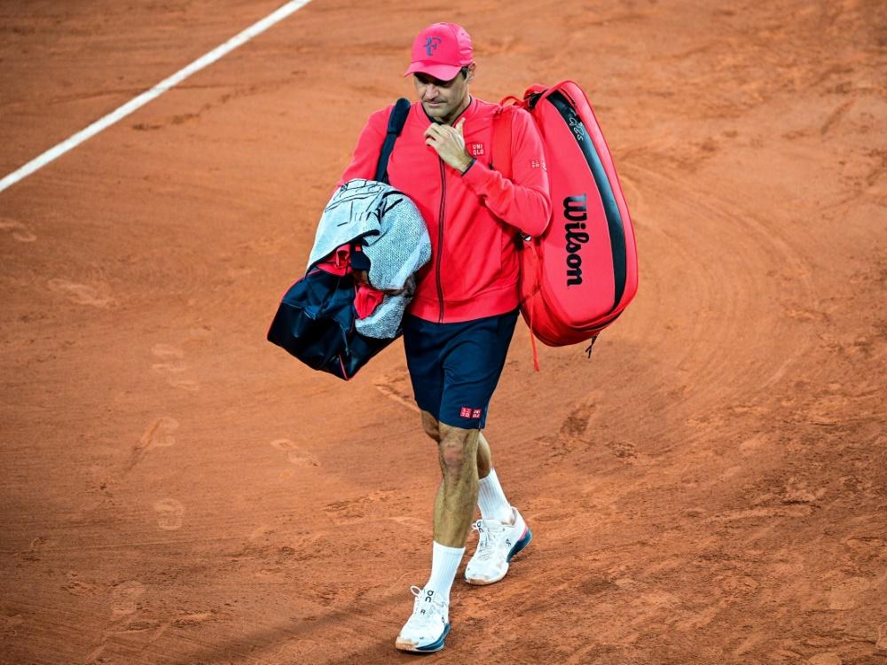 Schwerstarbeit in Runde drei: Roger Federer