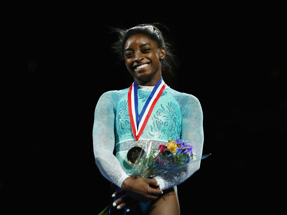 Olympiasiegerin Simone Biles gewinnt alle fünf US-Titel