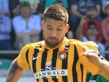 Kai Brünker erzielt den Siegtreffer für Großaspach