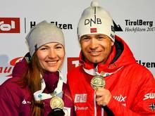 Domratschewa und Björndalen trainieren Chinas Biathleten