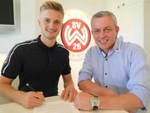Jan-Christoph Bartels (l.) wird an Wiesbaden ausgeliehen