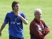 Gilardino (l.) und Lippi holten 2006 den WM-Titel
