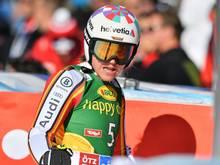 Viktoria Rebensburg belegte in Lake Louise Rang vier