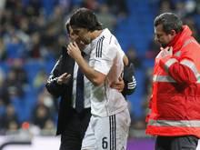 Sami Khedira musste nach einem Zusammenprall vom Feld