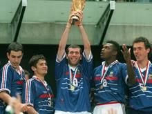Held des Abends: Doppeltorschütze Zinédine Zidane (m.)