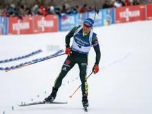 Erik Lesser läuft mit seinem Team auf den zweiten Rang