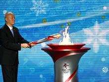 Die Olympische Flamme brennt nun in Peking