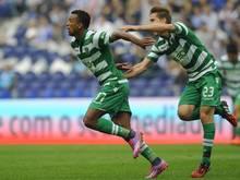 Superstar Nani (l.) führt die Leões zum Sieg gegen Porto
