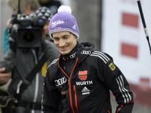 Martin Schmitt entging in Innsbruck knapp einem Unglück