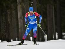 Alexander Loginow hatte am Samstag Gold im Sprint geholt