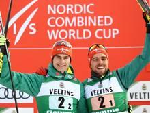 Doppelsieg: Vinzenz Geiger (l.) und Johannes Rydzek