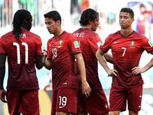 Geschlagene Stars: Cristiano Ronaldo (r.) und Co.