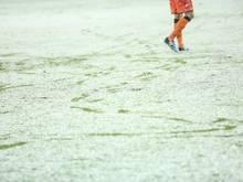 Dichtes Schneetreiben in Großaspach