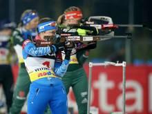 Russlands Biathletin Jekaterina Jurlova-Percht (v.)