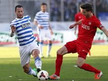 Duisburg konnte das Spiel im Elfmeterschießen gewinnen