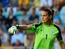 Nadine Angerer wird gegen Slowenien nicht das Tor hüten