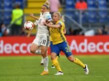 Anja Mittag (l.) trat 2017 aus der Nationalmannschaft zurück