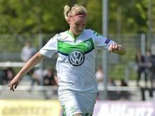 Alexandra Popp erzielt das 1:0 für Wolfsburg