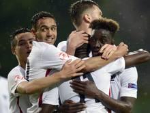 Steht nach einem Krimi im Finale: die U17-Auswahl Frankreichs