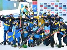 Schweden sammelte bei der WM insgesamt sechs Medaillen